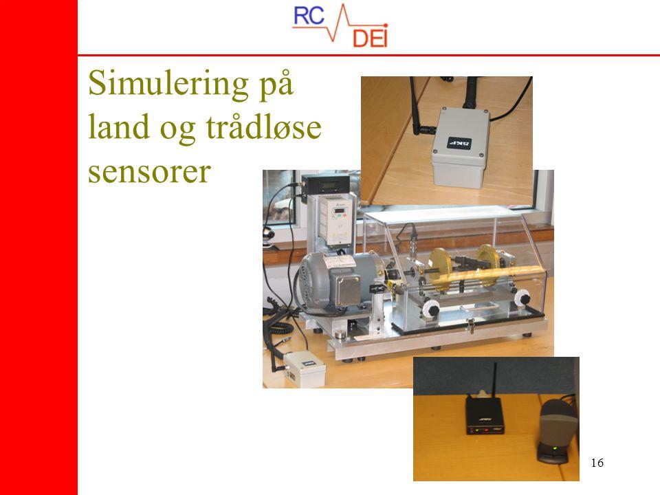 16 Simulering på land og trådløse sensorer