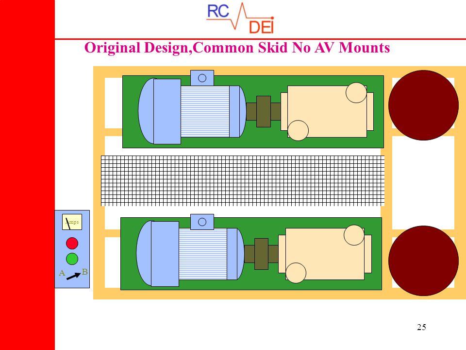 25 Original Design,Common Skid No AV Mounts Amps A B