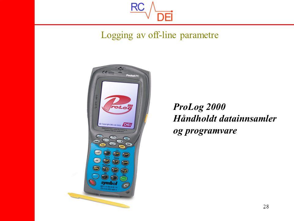 28 Logging av off-line parametre ProLog 2000 Håndholdt datainnsamler og programvare