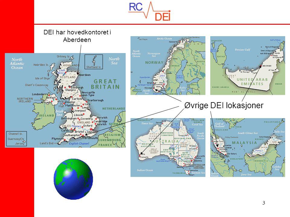 3 DEI har hovedkontoret i Aberdeen Øvrige DEI lokasjoner
