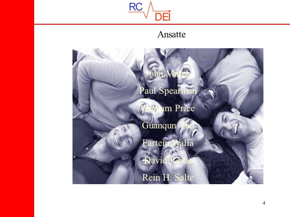 15 RC-DEI's datarom Har 4 arbeidsstasjoner med unike adresser
