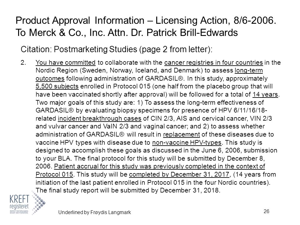26 Product Approval Information – Licensing Action, 8/6-2006.