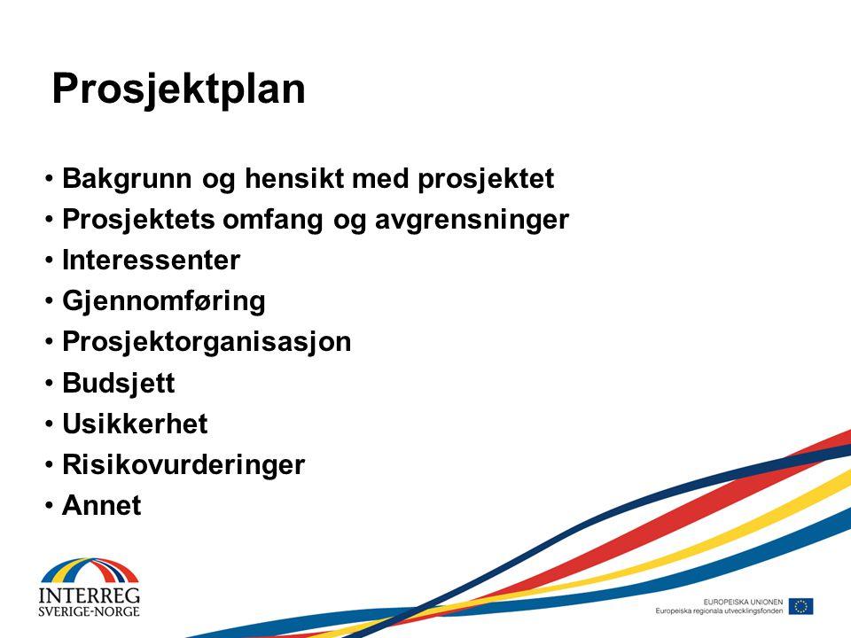Å tenke på under planlegging • Avtale – kontrakt • Vedtak og vilkår • Informasjonsansvar • Endringer i prosjektet etter evt.