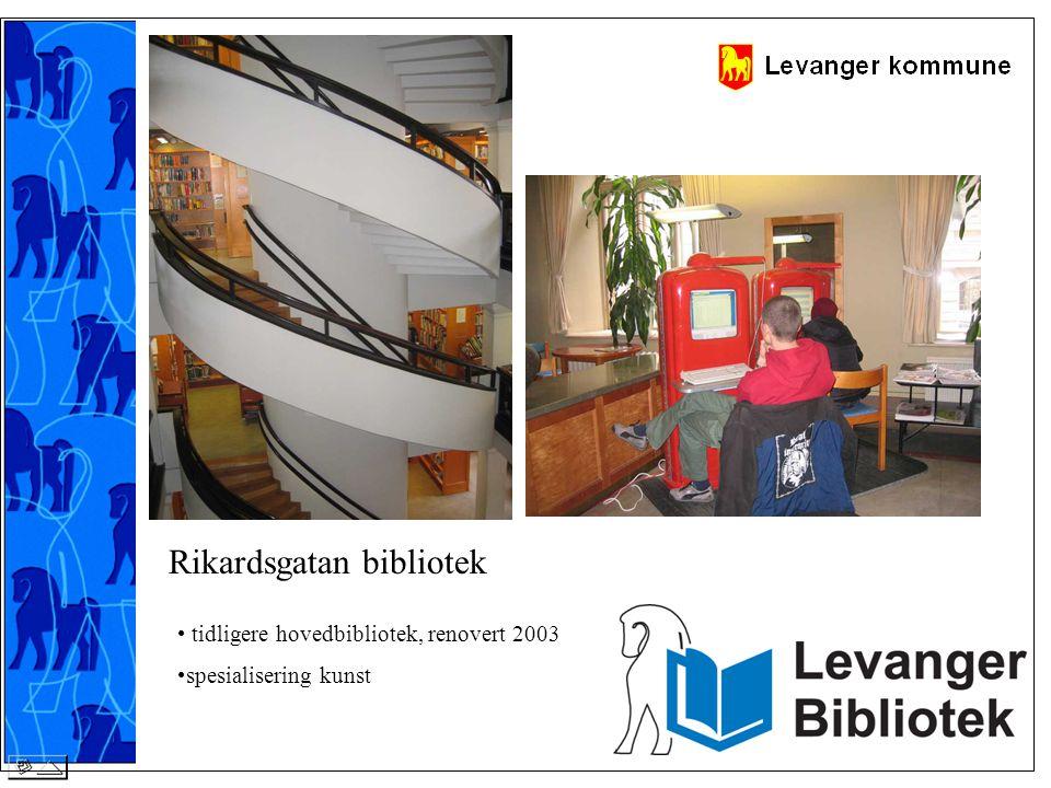 Rikardsgatan bibliotek • tidligere hovedbibliotek, renovert 2003 •spesialisering kunst