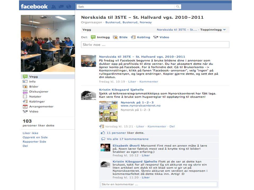 Ungdommenes PC-bruk • Tilgang og tidsbruk • Bruk av sosiale medier • Underholdning, finne informasjon, være oppdatert • Skolearbeid • Nettvett, sikker bruk