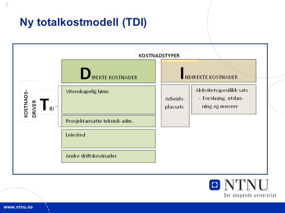 5 Ny totalkostmodell (TDI)