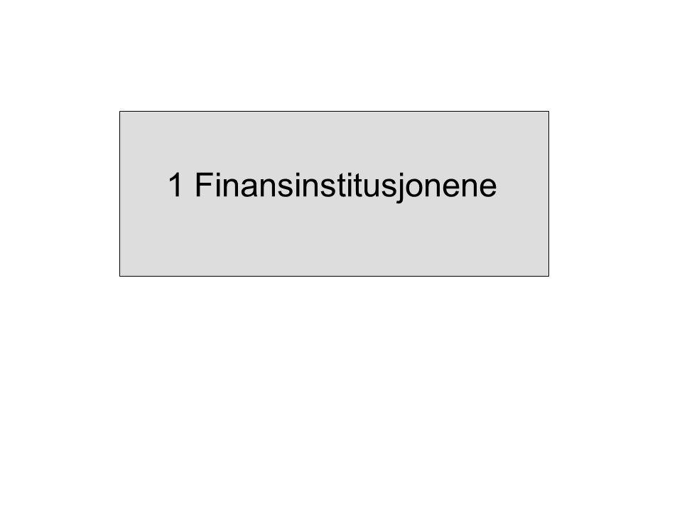 1 Finansinstitusjonene