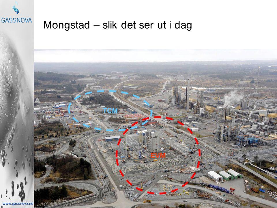 www.gassnova.no Mongstad – slik det ser ut i dag TCM EVM