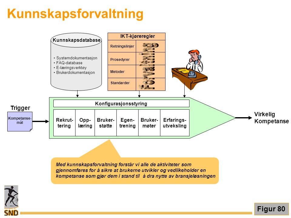 Kunnskapsforvaltning Med kunnskapsforvaltning forstår vi alle de aktiviteter som gjennomføres for å sikre at brukerne utvikler og vedlikeholder en kom