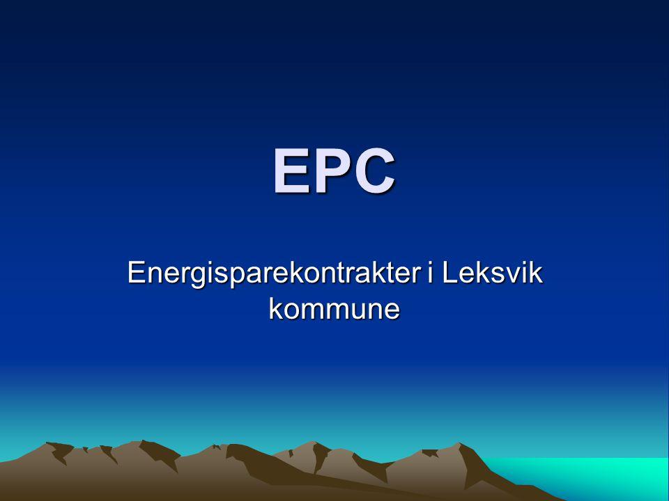 EPC Energisparekontrakter i Leksvik kommune