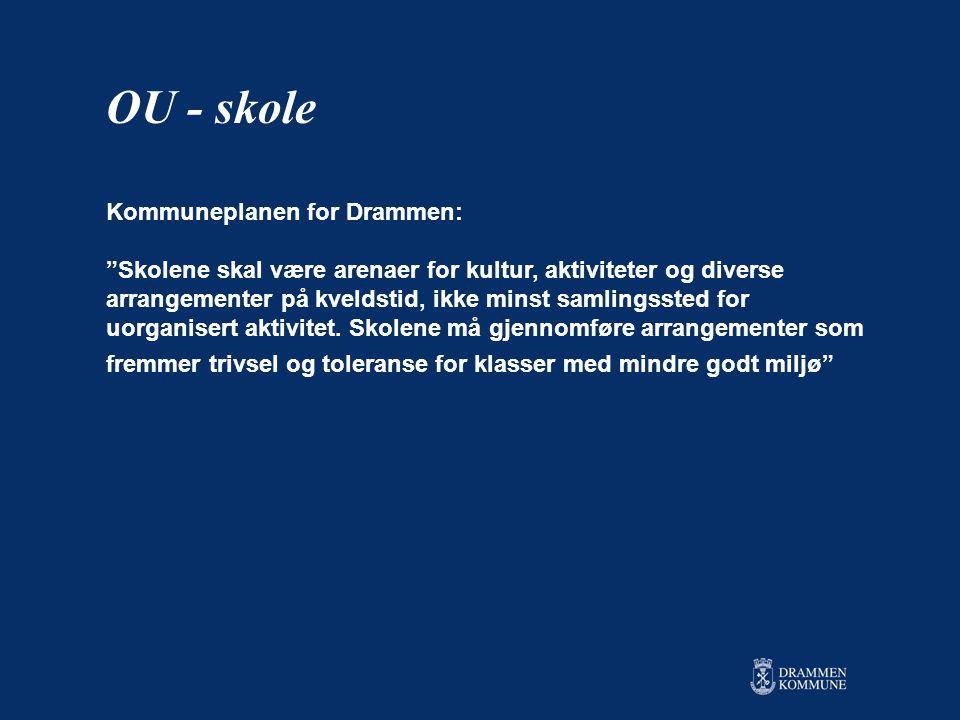 Kommuneplanen for Drammen: Skolene skal være arenaer for kultur, aktiviteter og diverse arrangementer på kveldstid, ikke minst samlingssted for uorganisert aktivitet.