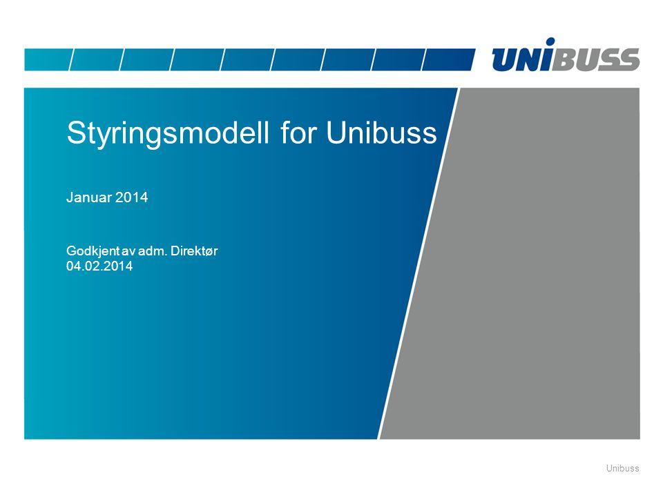 Unibuss Styringsmodell for Unibuss Januar 2014 Godkjent av adm. Direktør 04.02.2014