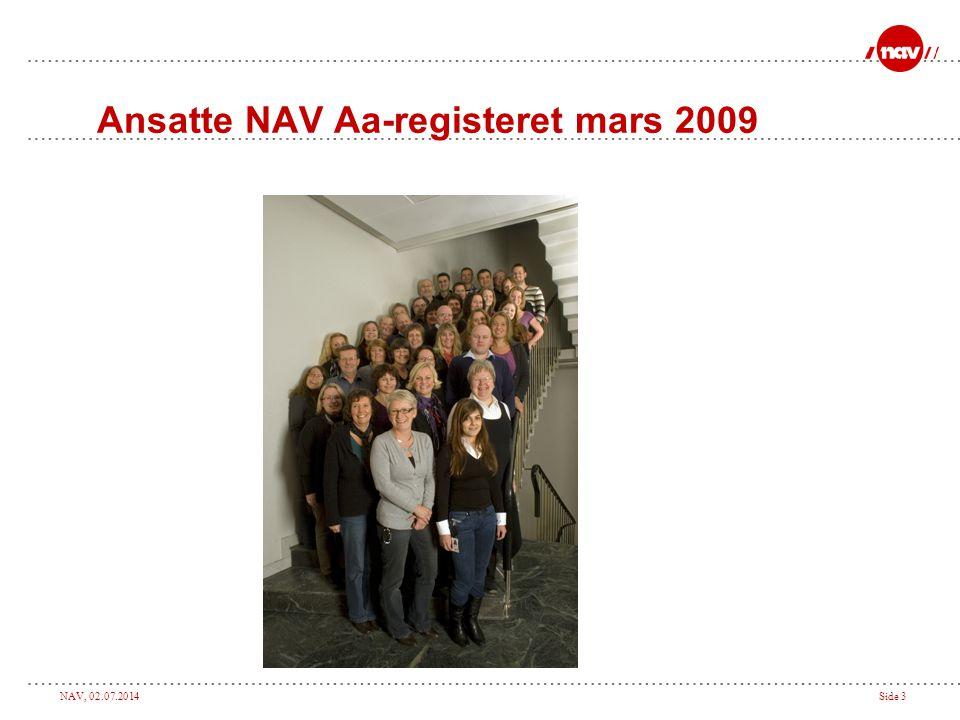 NAV, 02.07.2014Side 3 Ansatte NAV Aa-registeret mars 2009