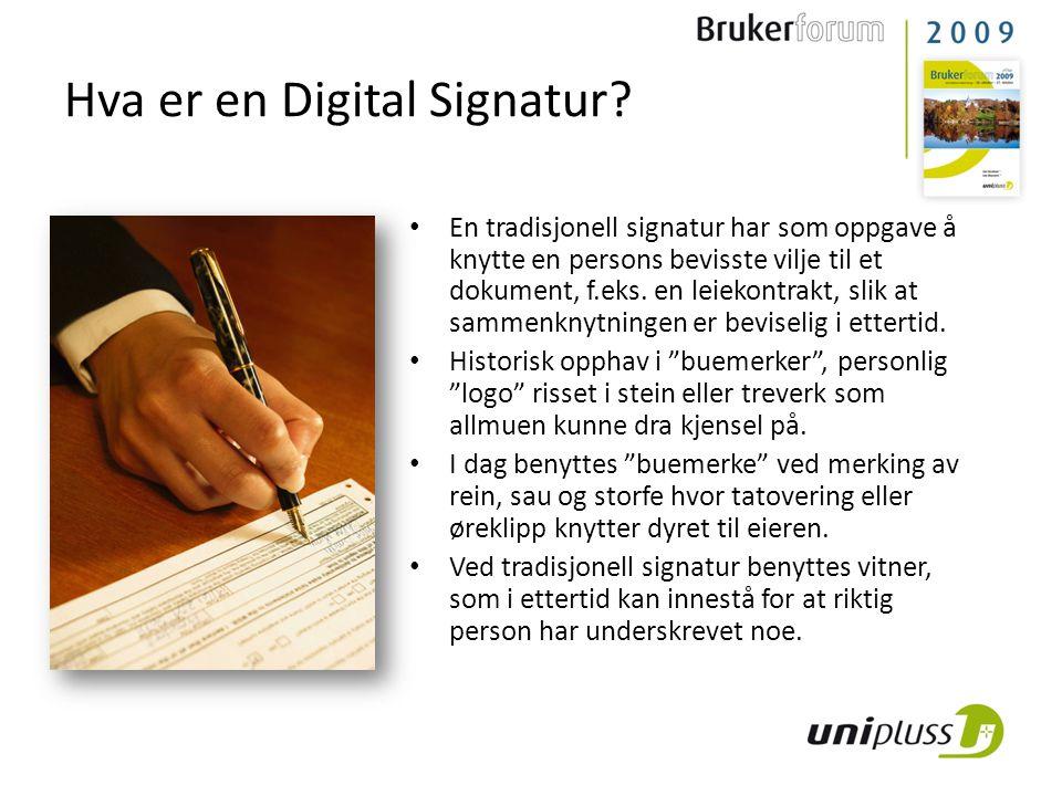 Hva er en Digital Signatur.