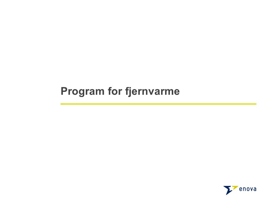 Program for fjernvarme
