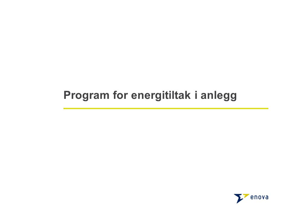 Program for energitiltak i anlegg