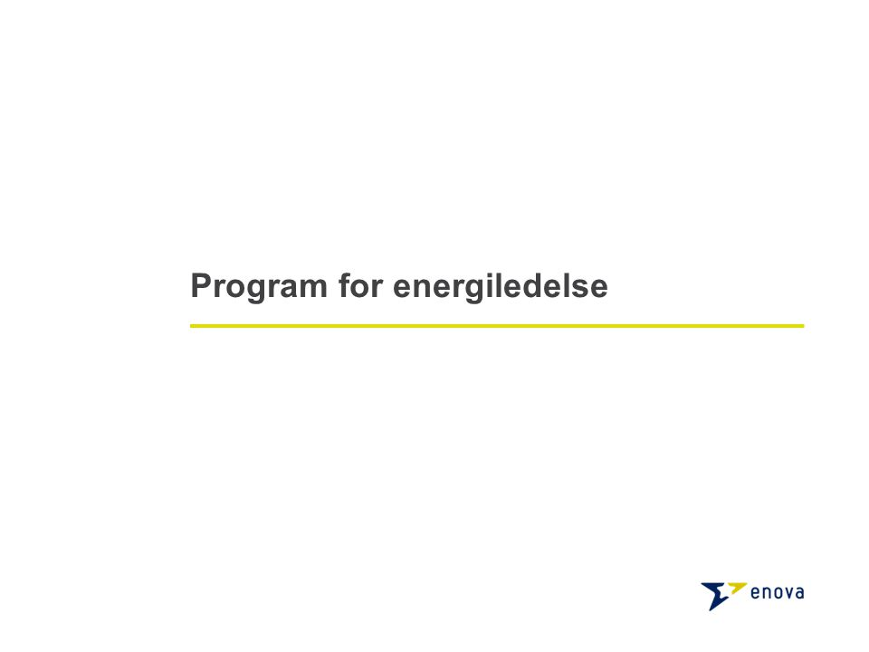 Program for energiledelse