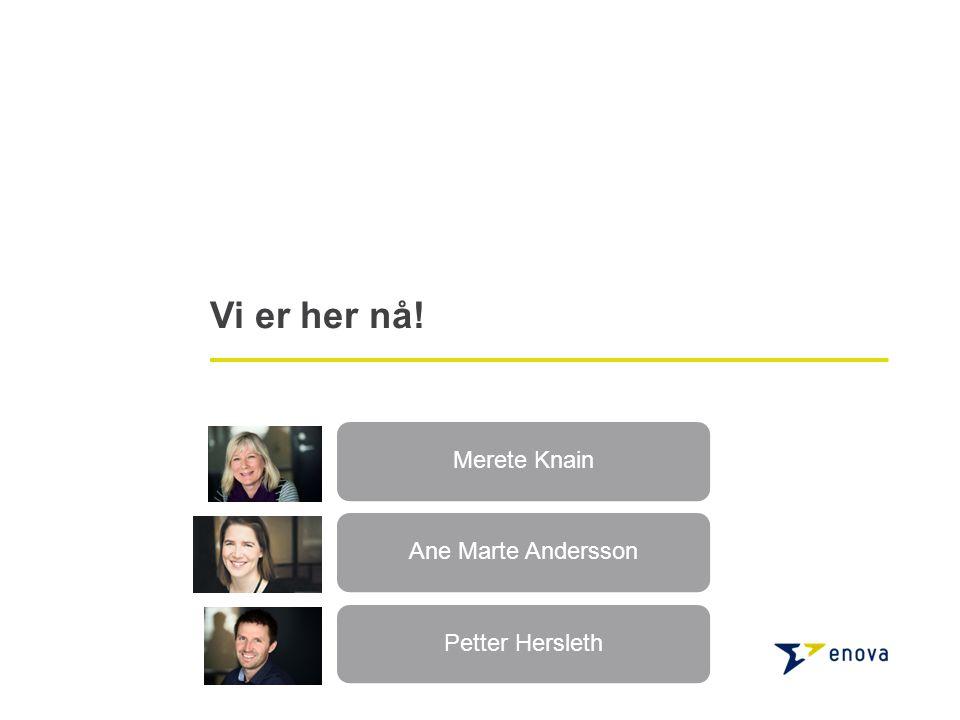 Vi er her nå! Merete KnainAne Marte AnderssonPetter Hersleth