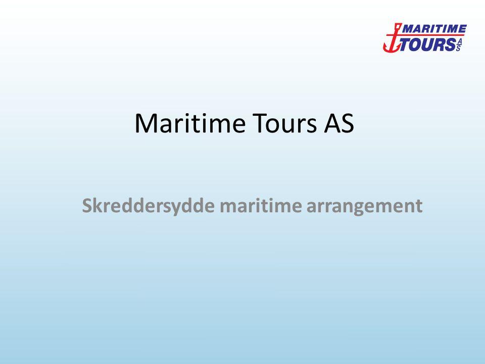 Agenda Om Maritime Tours AS Båter vi kan tilby Samarbeidspartnere Kunder Mannskapsbytte i Nordsjøen Sosial profil Oppsummering og spørsmål Skreddersydde maritime arrangement