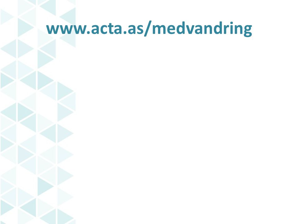 www.acta.as/medvandring