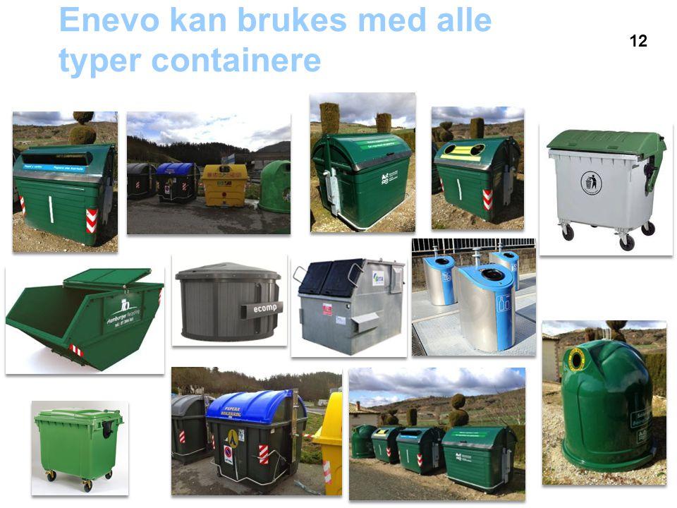 Enevo kan brukes med alle typer containere 12