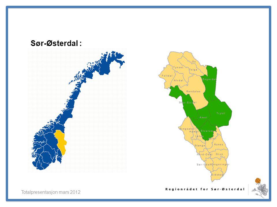 ElverumRegionens NæringsUtvikling Sør-Østerdal : Totalpresentasjon mars 2012