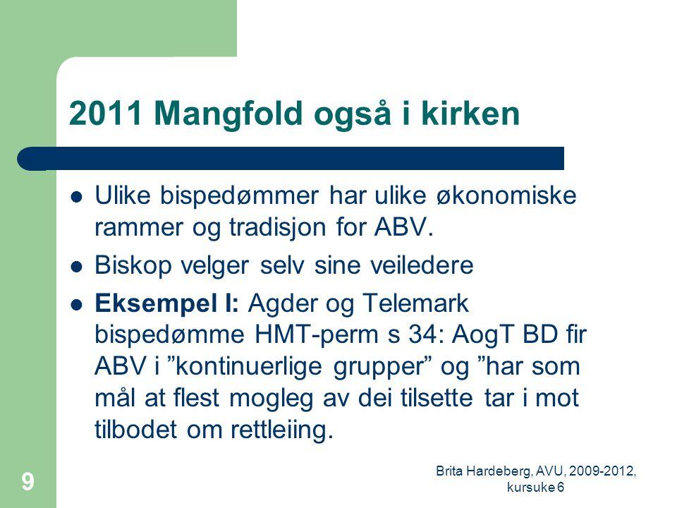 2011 Mangfold også i kirken  Ulike bispedømmer har ulike økonomiske rammer og tradisjon for ABV.