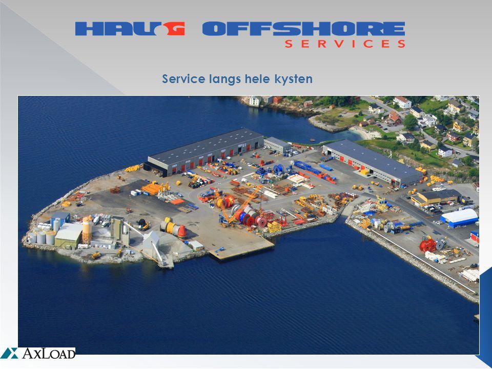 Logistikk • Utleie av personell • Utleie av ute lager totalt ca 25 000 m2 • Utleie av innelager totalt ca 8 000 m2 •Innelager i Kristiansund ca 3.000 m2 •Utelager i Kristiansund ca12.000 m2 •Innelager i Florø 1.000 m2 •Utelager i Florø 1.000m2 •Innelager i Sandnessjøen på 1350 m2 •Utelager i Sandnessjøen 500 m2 •Innelager Mongstad 1.800 m2 •Utelager Mongstad 5.000 m2 •Innelager Hammerfest 200 m2 •Utelager Hammerfest 500 m2