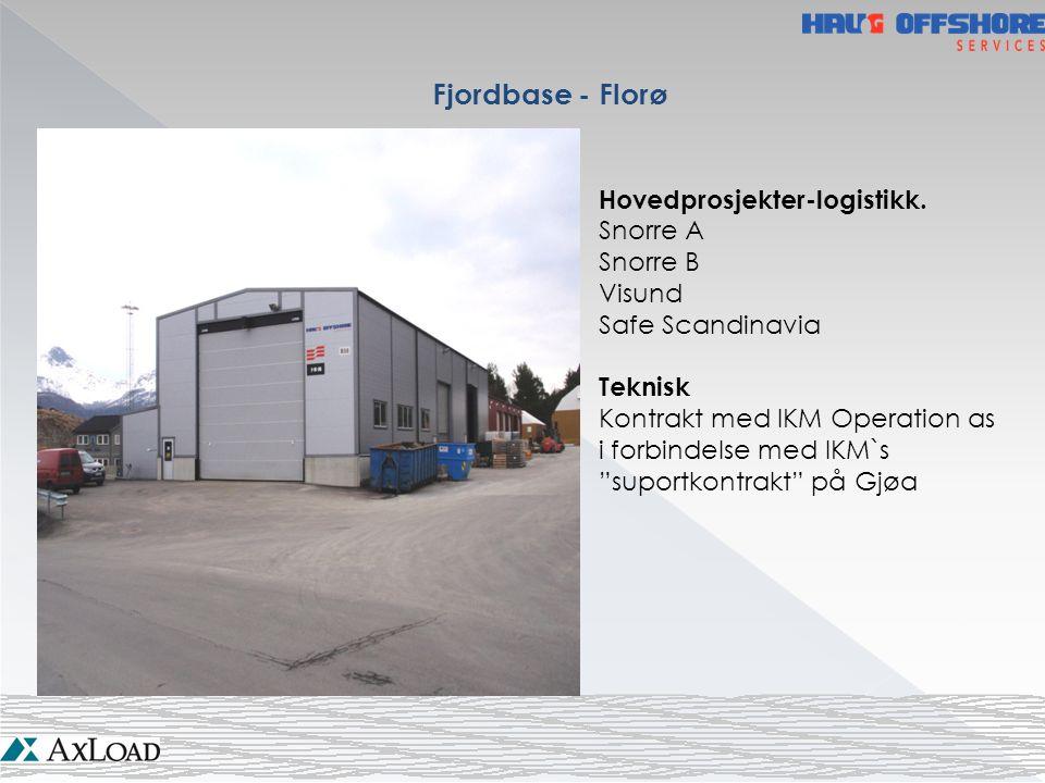 """Fjordbase - Florø Hovedprosjekter-logistikk. Snorre A Snorre B Visund Safe Scandinavia Teknisk Kontrakt med IKM Operation as i forbindelse med IKM`s """""""