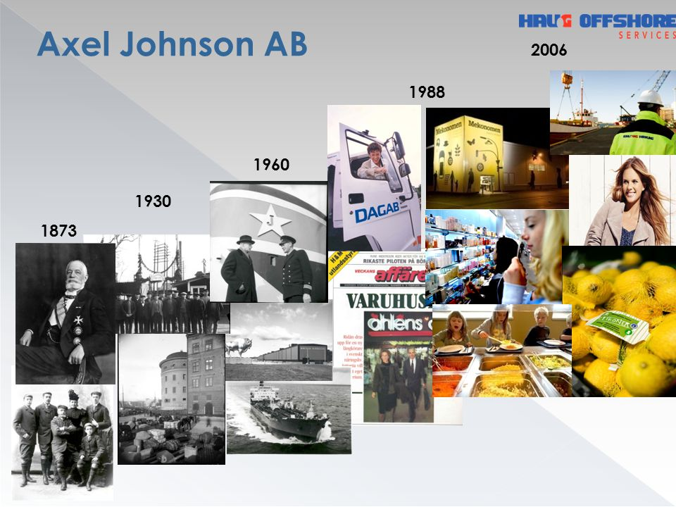Axel Johnson International Business-to-business trade and distribution of industrial products in Europe.
