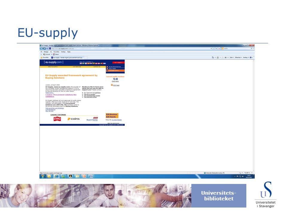 Universitets- biblioteket EU-supply