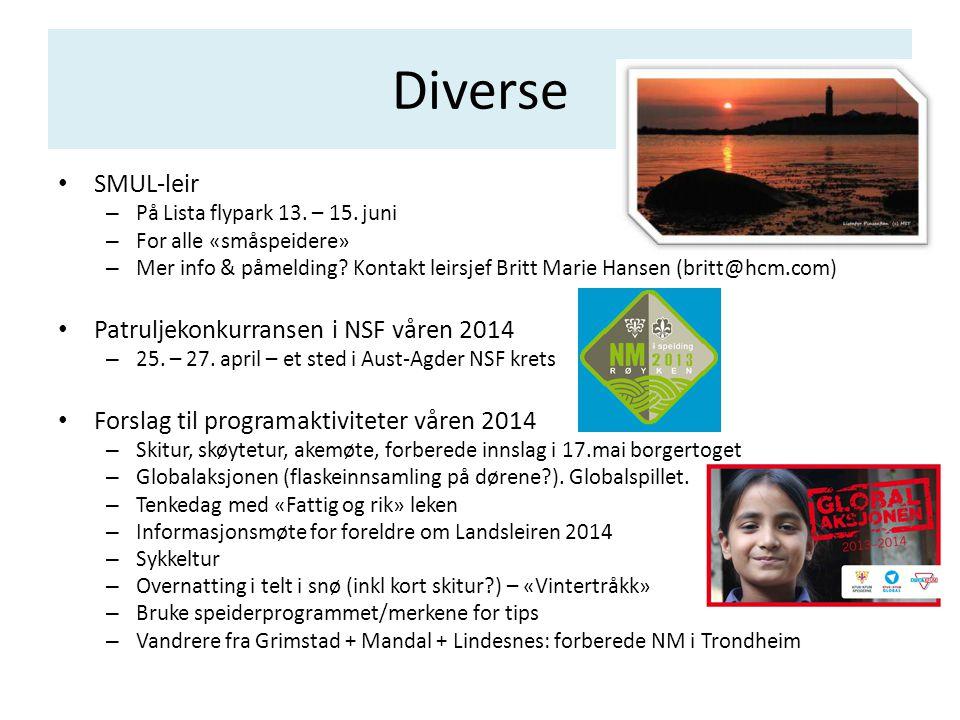 Diverse • SMUL-leir – På Lista flypark 13. – 15. juni – For alle «småspeidere» – Mer info & påmelding? Kontakt leirsjef Britt Marie Hansen (britt@hcm.