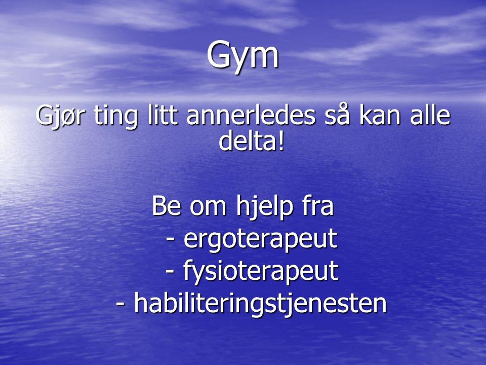 Gym Gjør ting litt annerledes så kan alle delta.