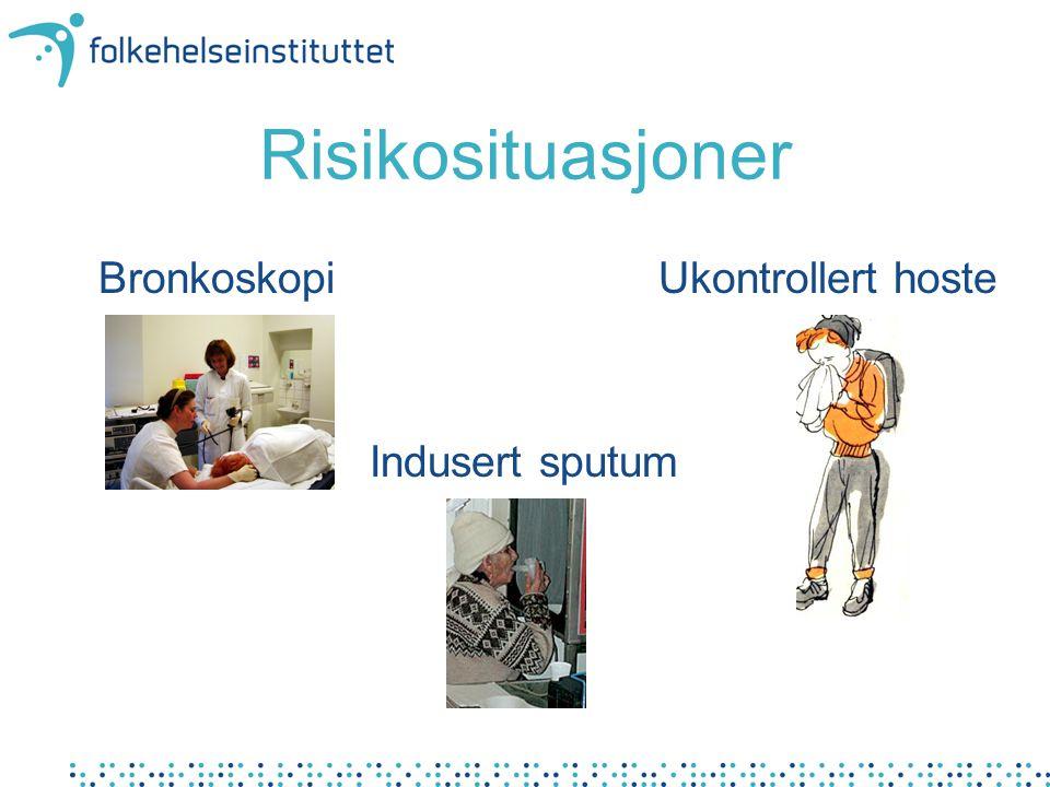 Smitteverntiltak poliklinikk Pasient hoste Ansatt Miljø Venterom Munnbind / åndedrettsvern.