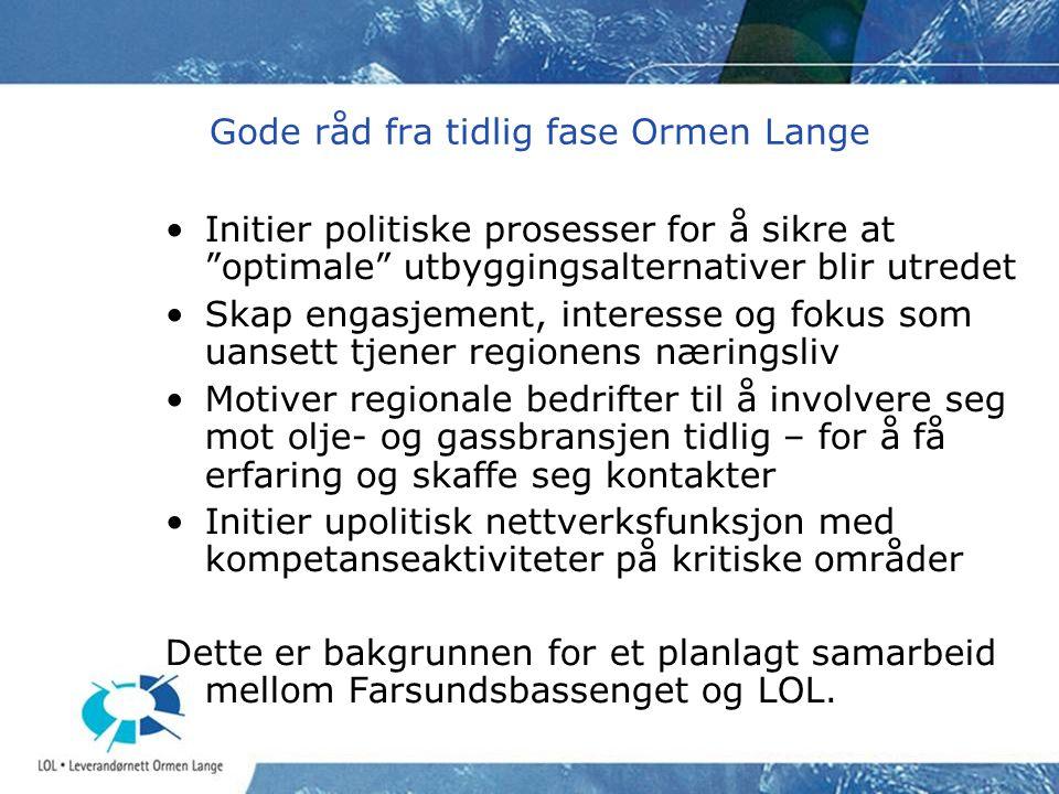 Prosessene vedr LOL • Ormen til Møre – en politisk prosess (1999 – 2003).