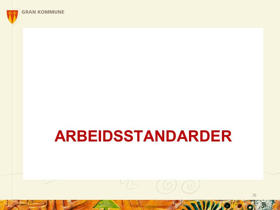 ARBEIDSSTANDARDER 36