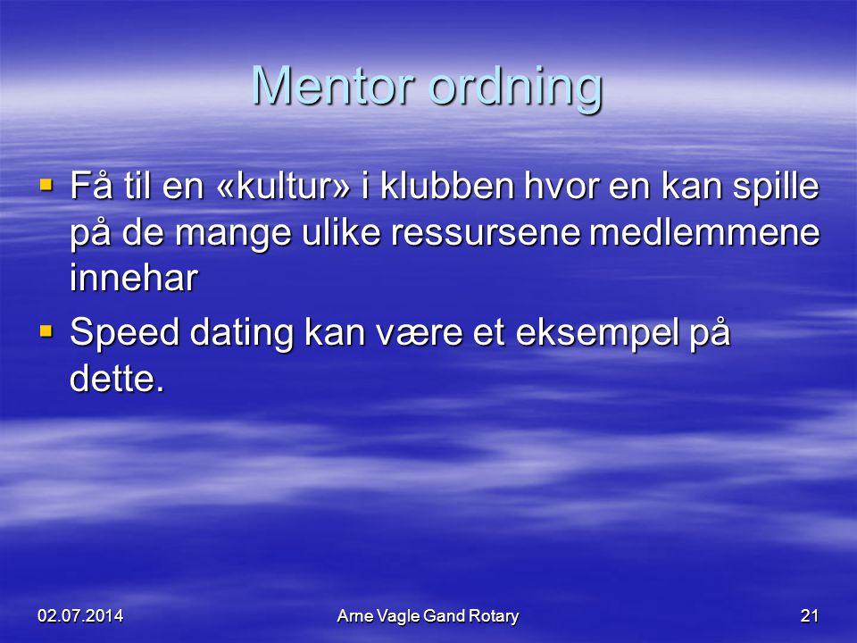 Mentor ordning  Få til en «kultur» i klubben hvor en kan spille på de mange ulike ressursene medlemmene innehar  Speed dating kan være et eksempel p