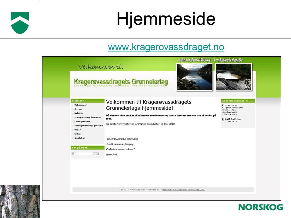 www.kragerovassdraget.no Hjemmeside