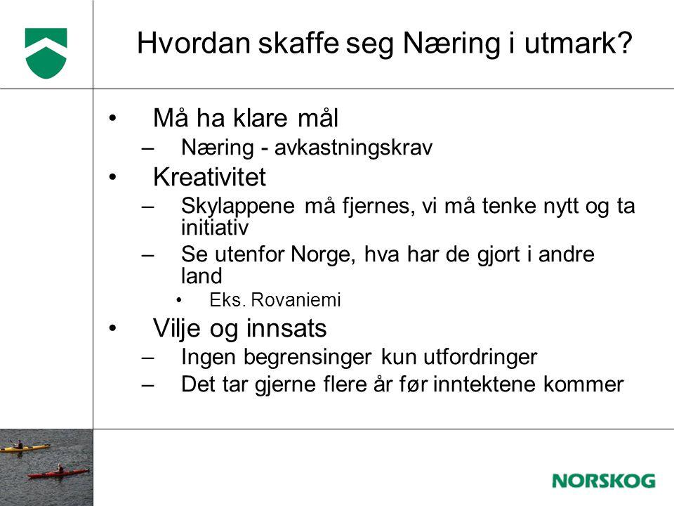 –Kultur og historie –Kajakk/kano –Fallskjerm –Paragliding –Vandring –Sykkel •Bortover •Down-hill –En dag som skogsarbeider.