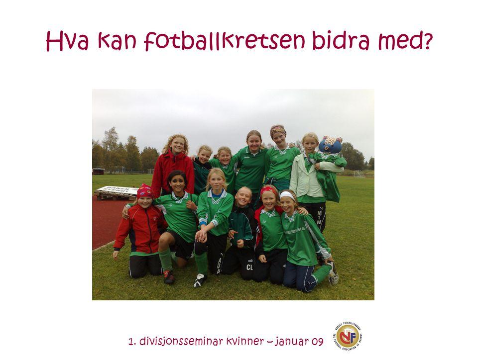 1. divisjonsseminar kvinner – januar 09 Hva kan fotballkretsen bidra med?