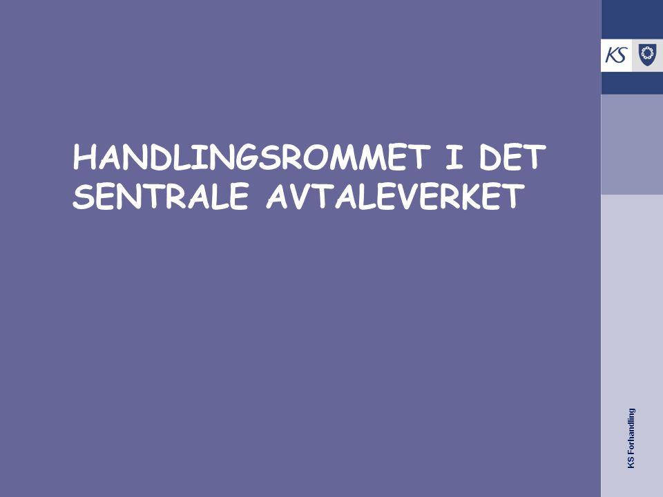KS Forhandling HANDLINGSROMMET I DET SENTRALE AVTALEVERKET