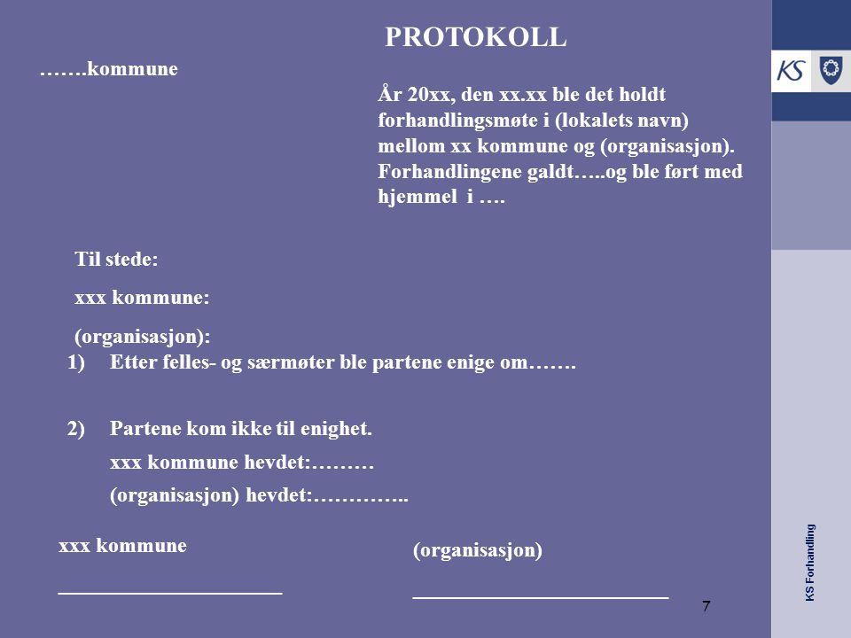 KS Forhandling Protokoll (forts.) Ev.