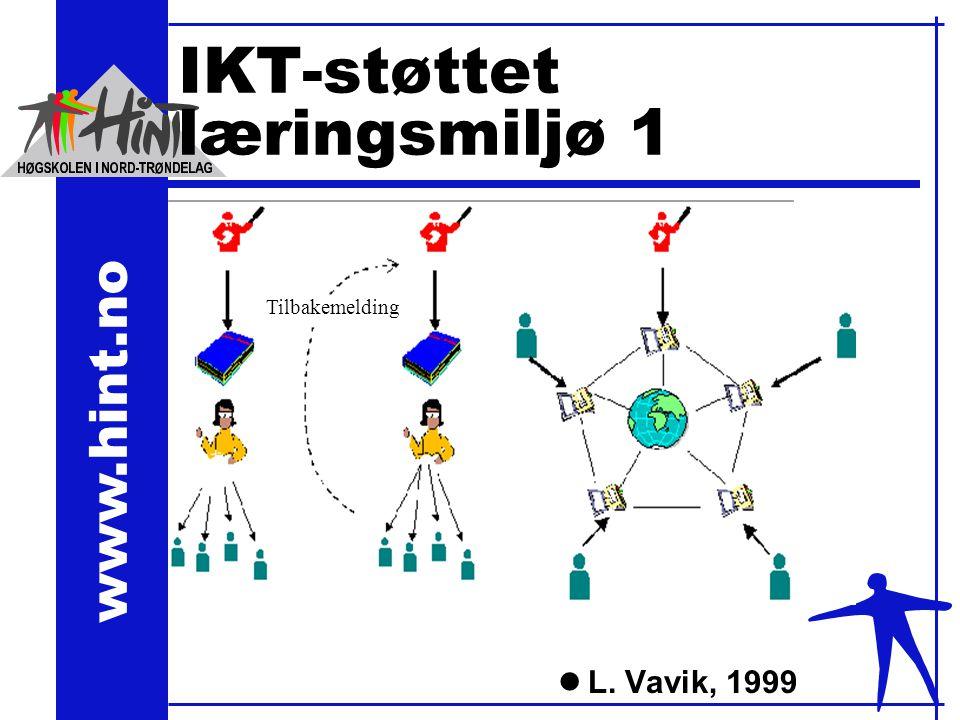 www.hint.no IKT-støttet læringsmiljø 1 lL. Vavik, 1999 Tilbakemelding