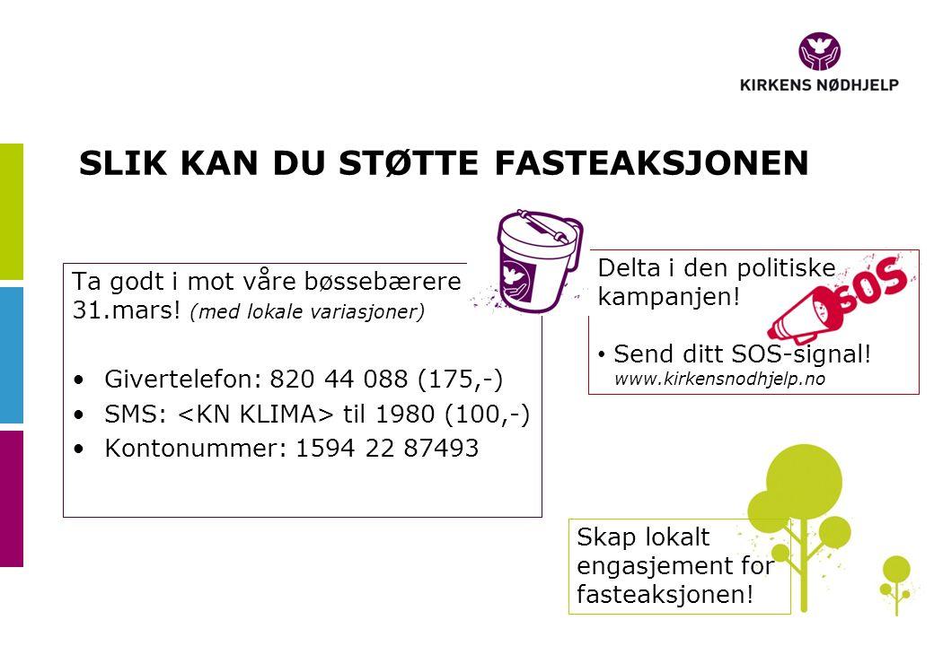 Delta i den politiske kampanjen. • Send ditt SOS-signal.