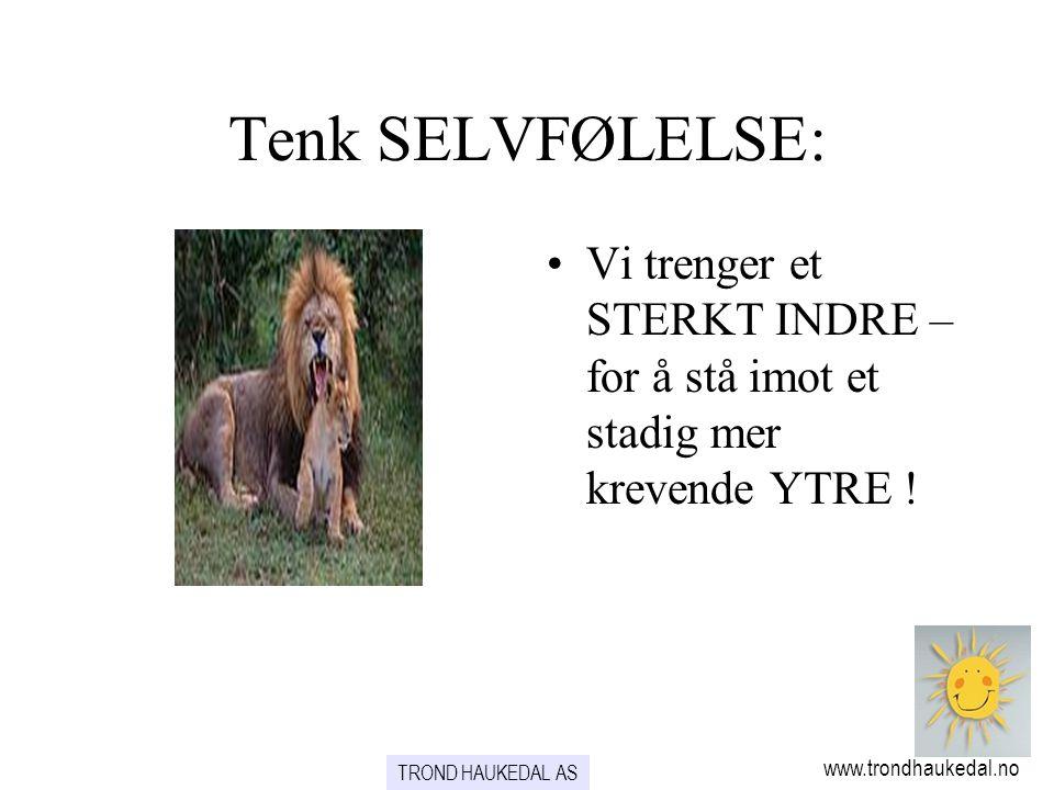 www.trondhaukedal.no TROND HAUKEDAL AS Tenk SELVFØLELSE: •Vi trenger et STERKT INDRE – for å stå imot et stadig mer krevende YTRE !