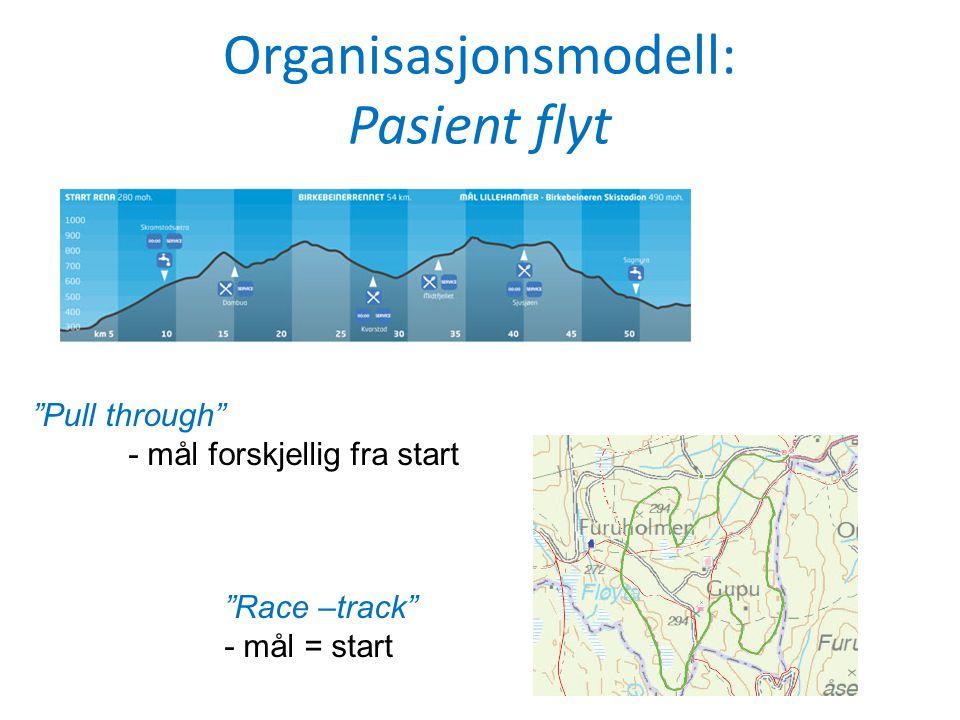 Organisasjonsmodell: Pasient flyt Løypa er i alt 54 km, hvorav 20 km i fjellterreng, vesentlig snaufjell.