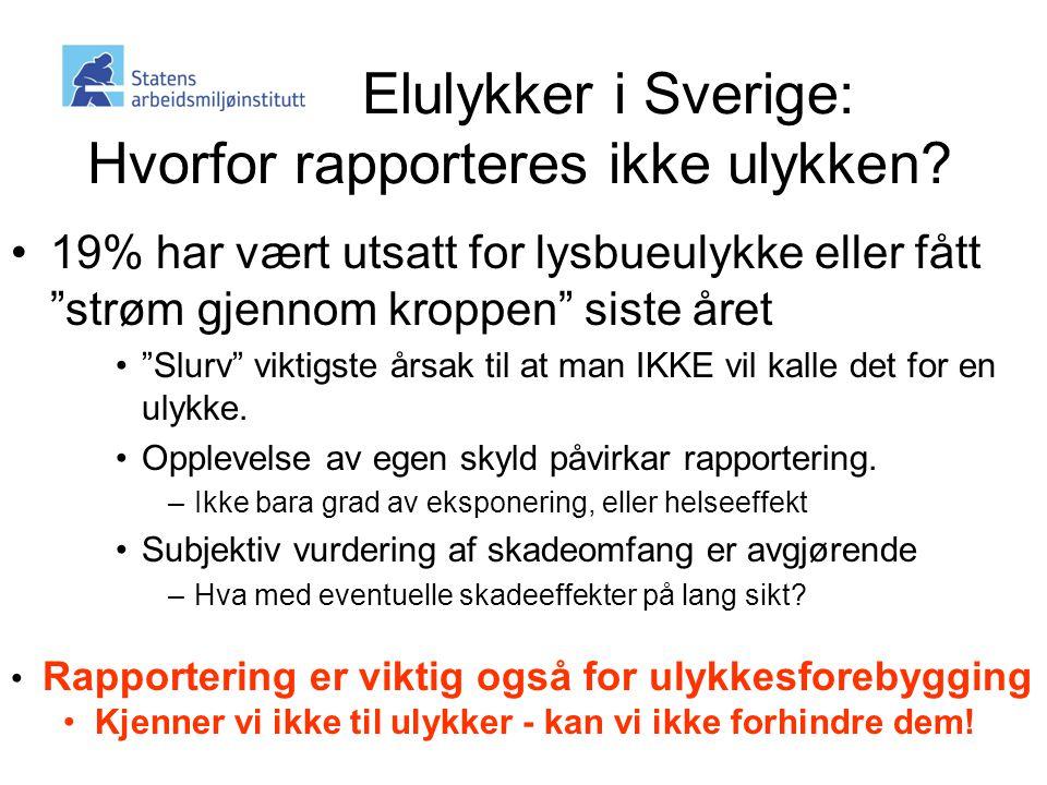 Elulykker i Sverige: Hvorfor rapporteres ikke ulykken.