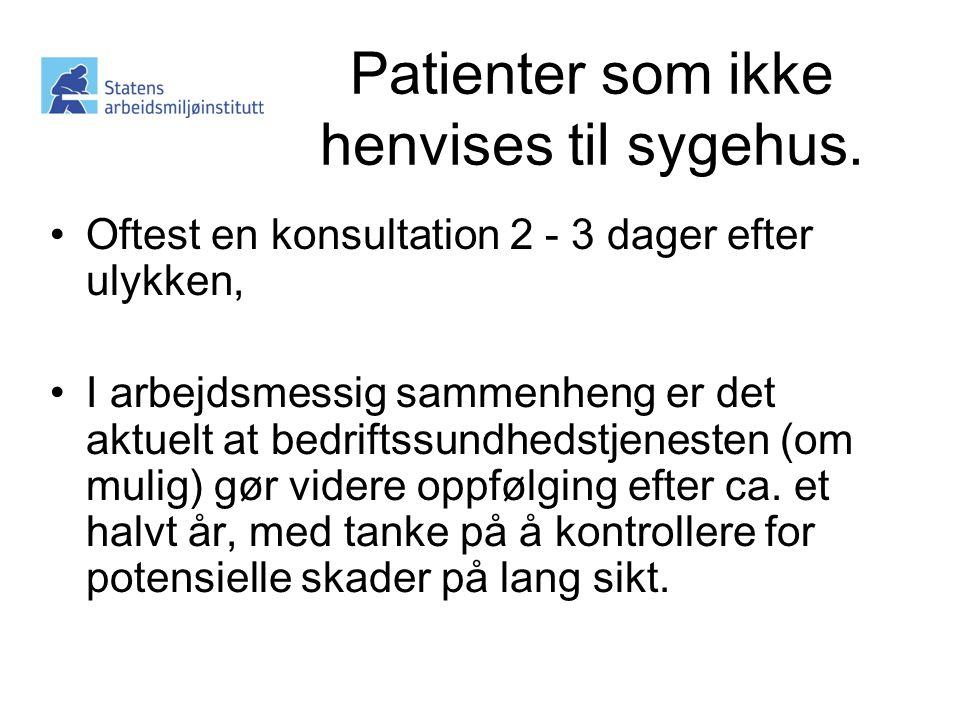 Patienter som ikke henvises til sygehus.