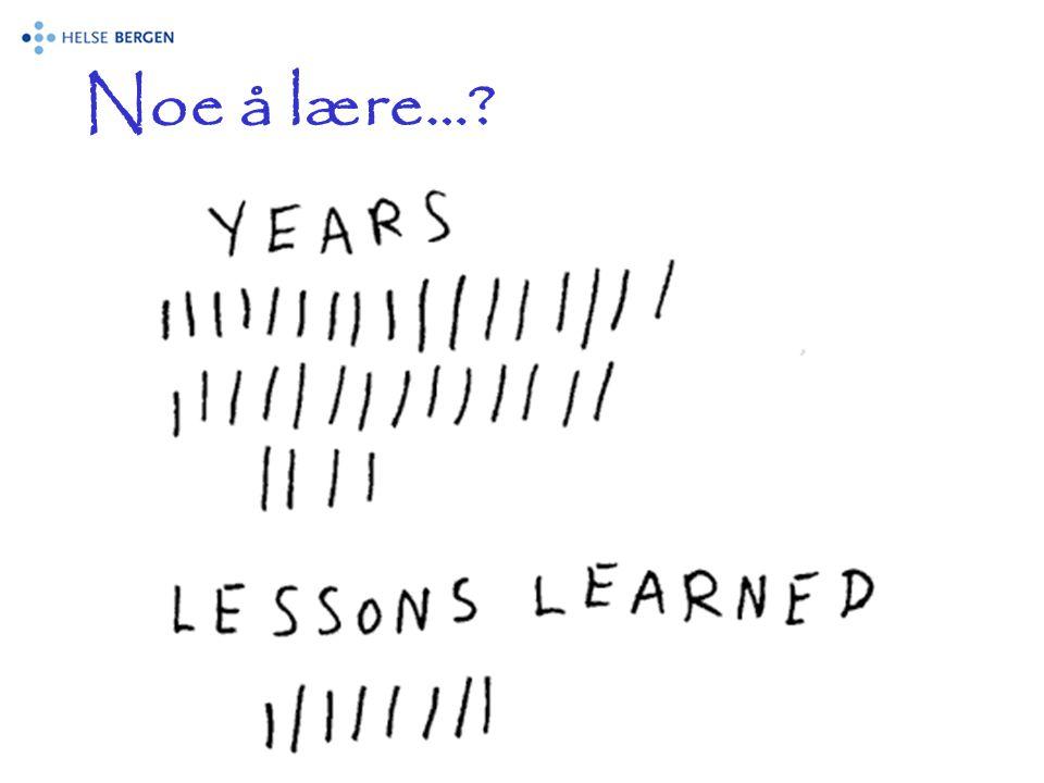 Noe å lære…?