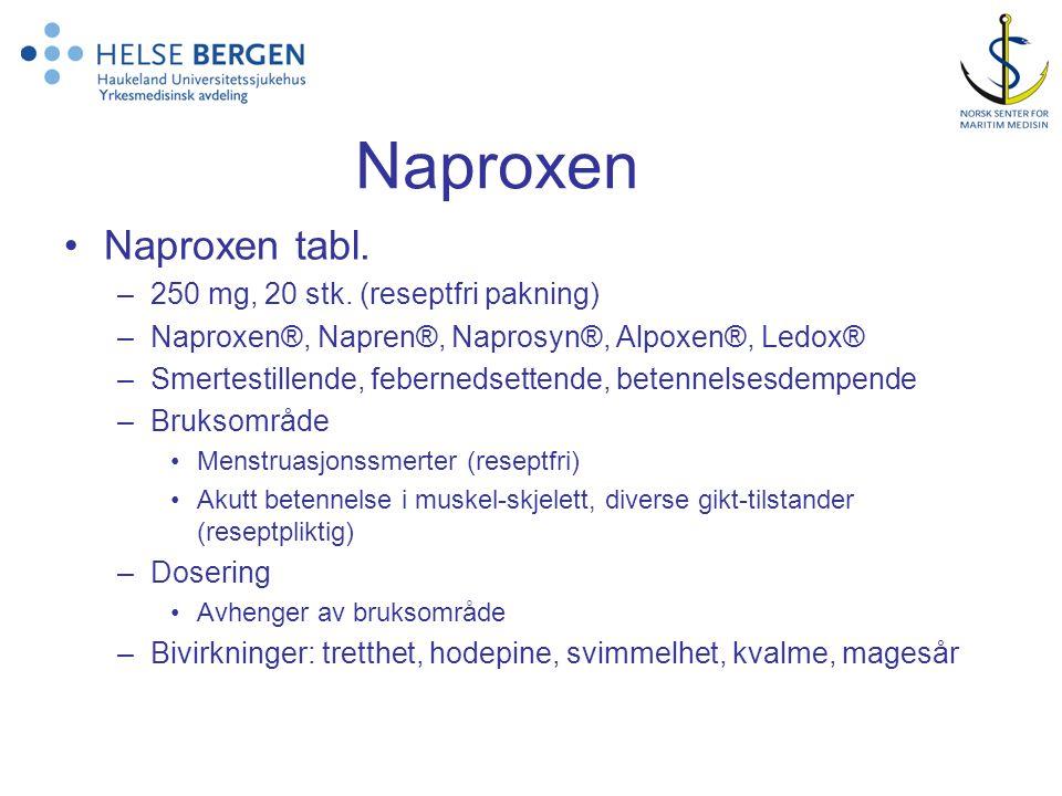 Naproxen •Naproxen tabl.–250 mg, 20 stk.